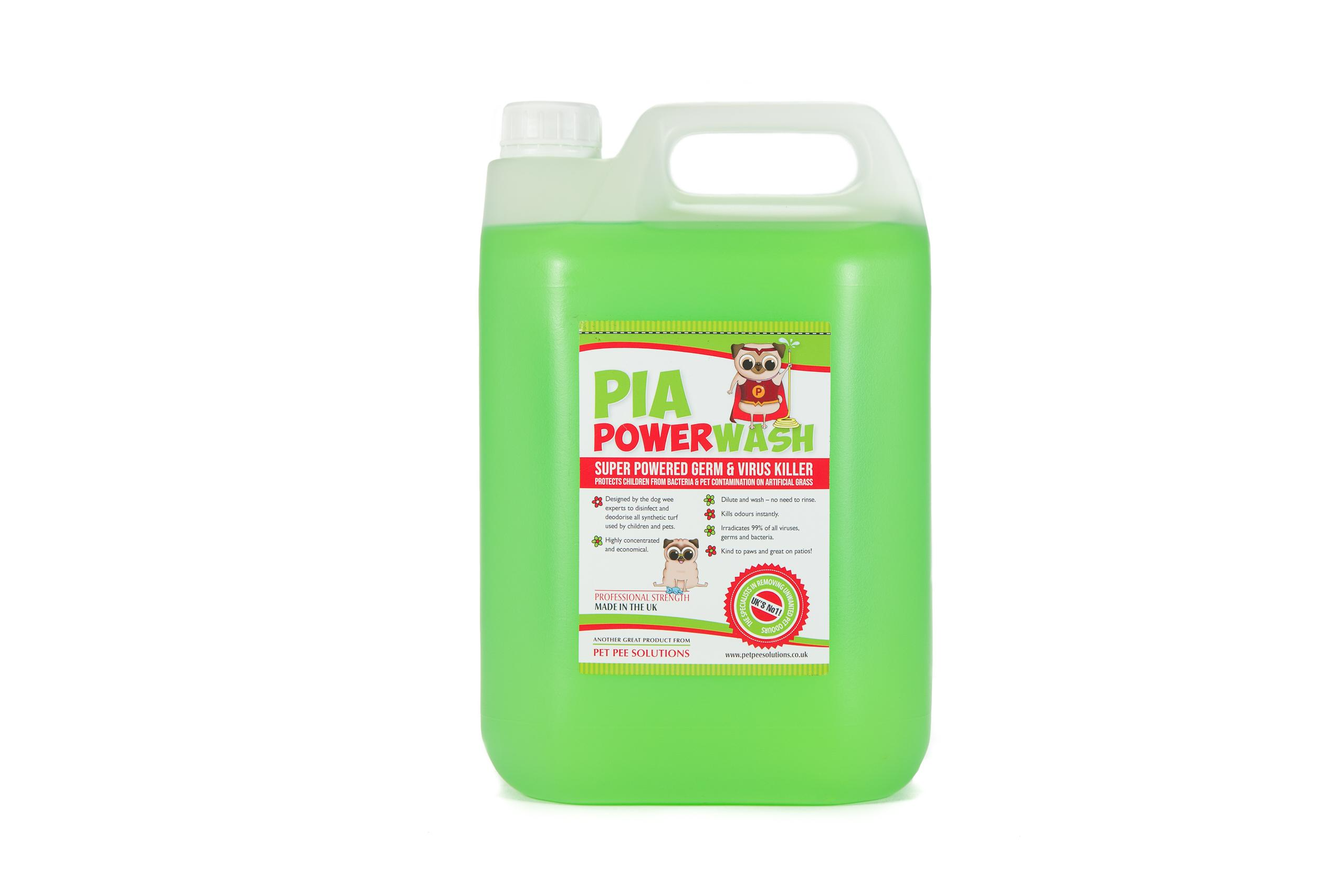 Pia Power Wash artificial grass disinfectant