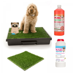 Dog Loo Deluxe with disinfectant