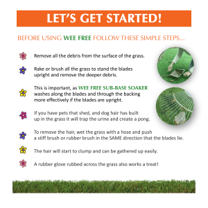 Step by step procedure on how to use Wee Free Sub-base soaker